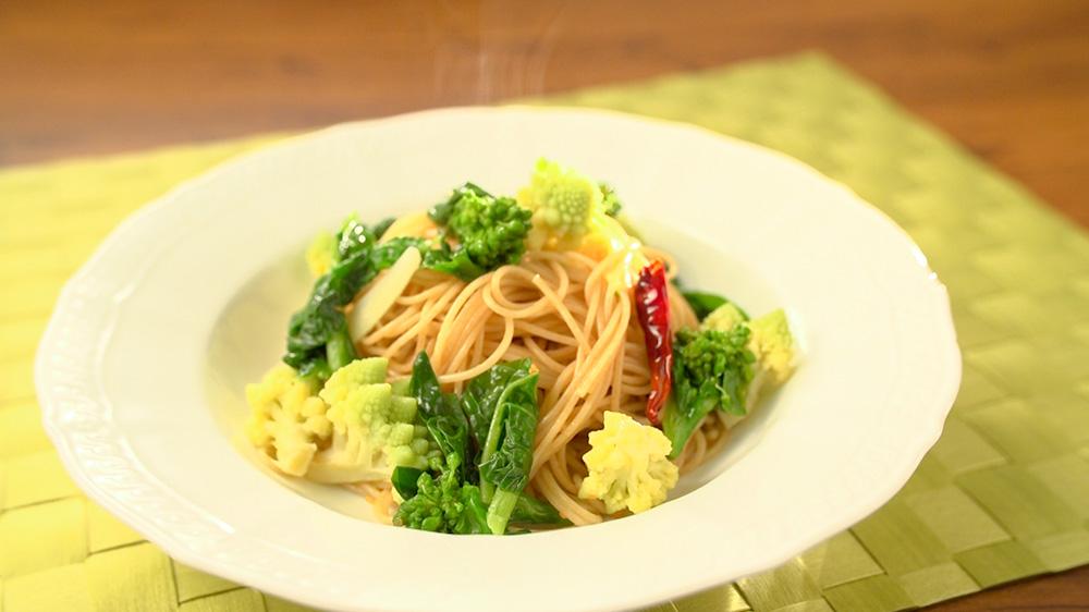 にんにく香る春野菜ペペロンチーノ