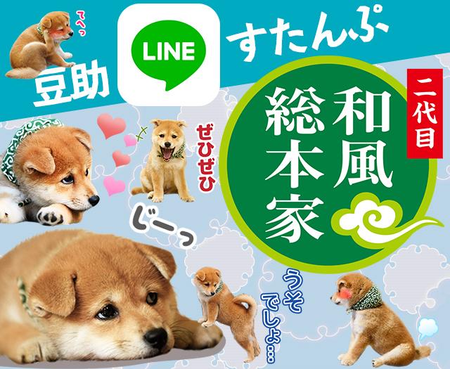 二代目 和風総本家の豆助LINEスタンプ発売中!